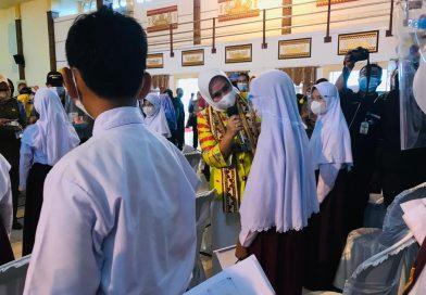 Ketua TP. PKK Provinsi Lampung Kampanyekan Gizi Produk Peternakan di Lampung Timur
